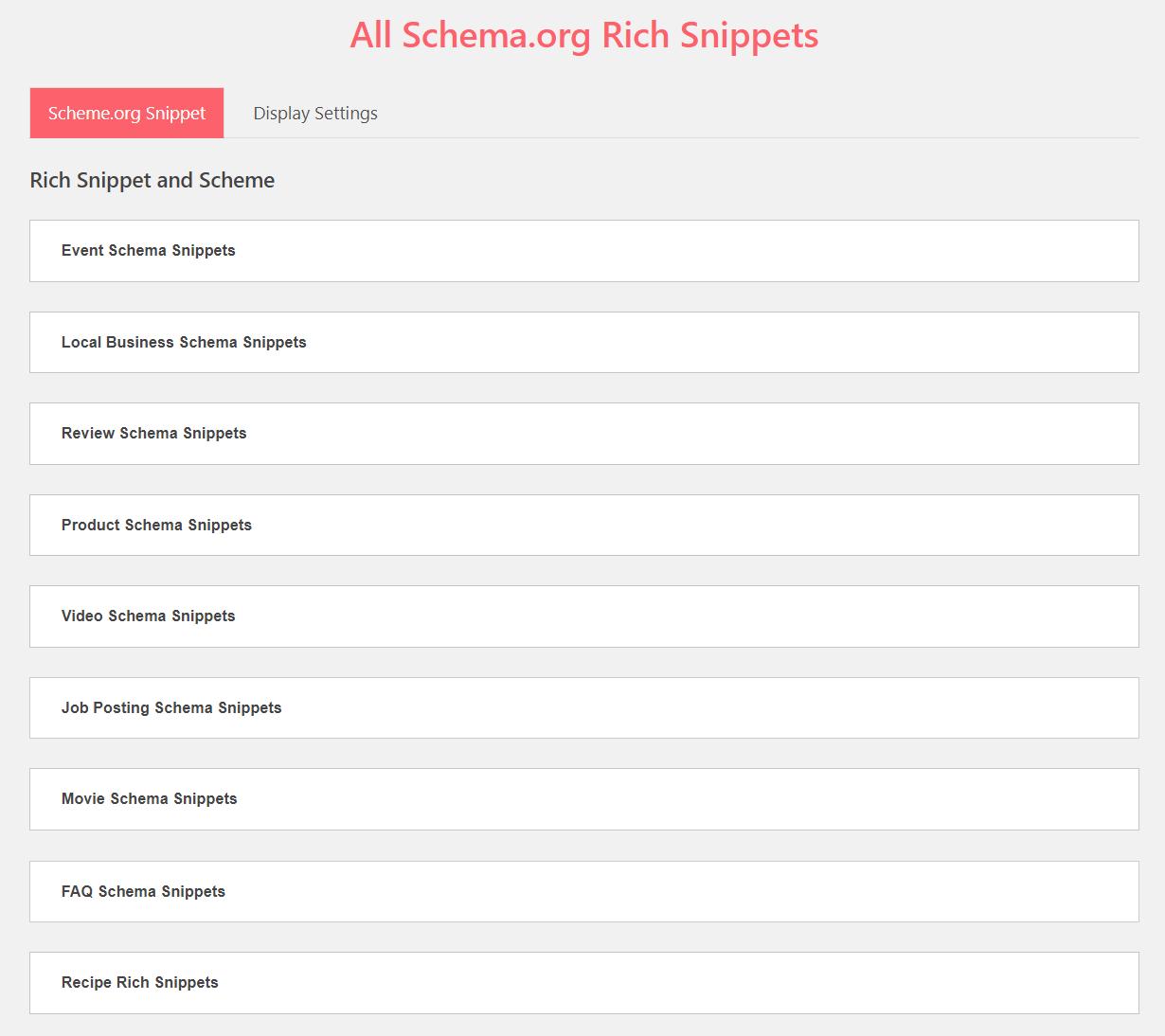 Code Sniffers Rich Snippets & Schema Plugin